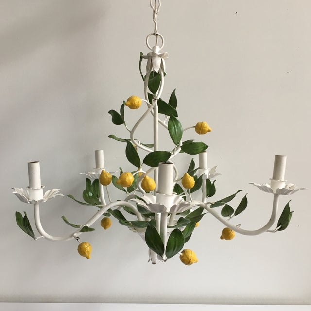 Italian Lemon Tree Tole Chandelier - Image 11 of 11