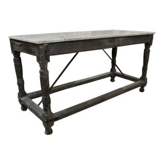 Italian Marble Top Table For Sale