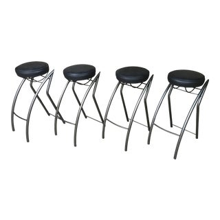 Post Modern Sculptural Bar Stools- Set of 4 For Sale
