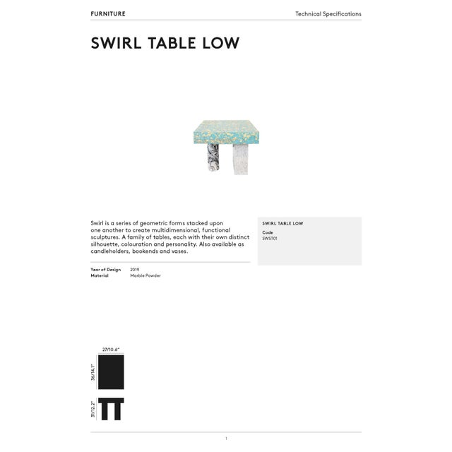 Tom Dixon Swirl Low Side Table For Sale In Los Angeles - Image 6 of 8