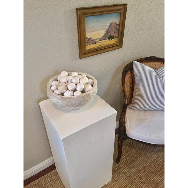 Industrial Modern Raw Plaster Pedestal For Sale - Image 3 of 5