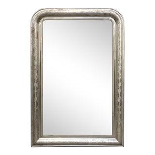 Louis Philippe Silver Gilt Mirror For Sale