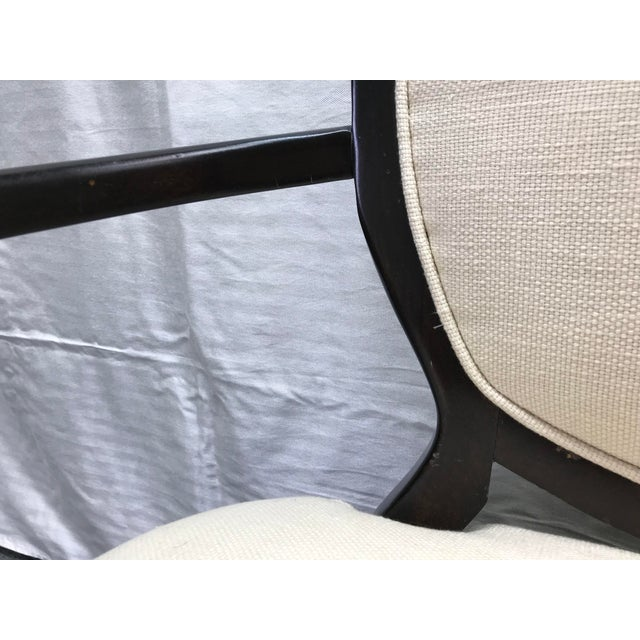 Transitional Barbara Barry Cream Oval X-Back Arm Chairs - a Pair For Sale - Image 10 of 13
