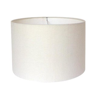 Large Off-White Linen Custom Drum Lamp Shade For Sale