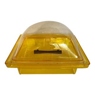 Mid-Century Modern Domed Acrylic Lucite Chilled Serving Piece For Sale