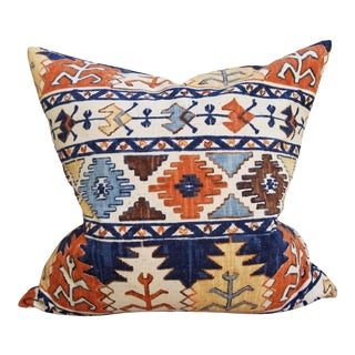 Vintage African Print Pillow For Sale