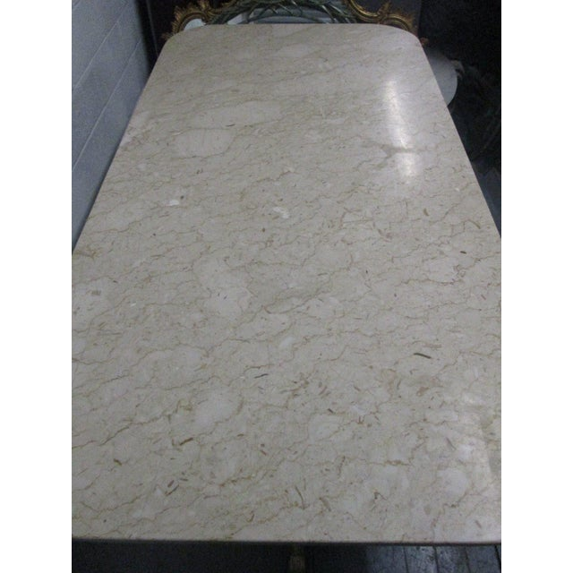 Brass and Marble-Top Dining Table For Sale - Image 9 of 11