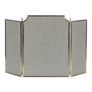 Vintage Old French 3 Fold Screen For Sale