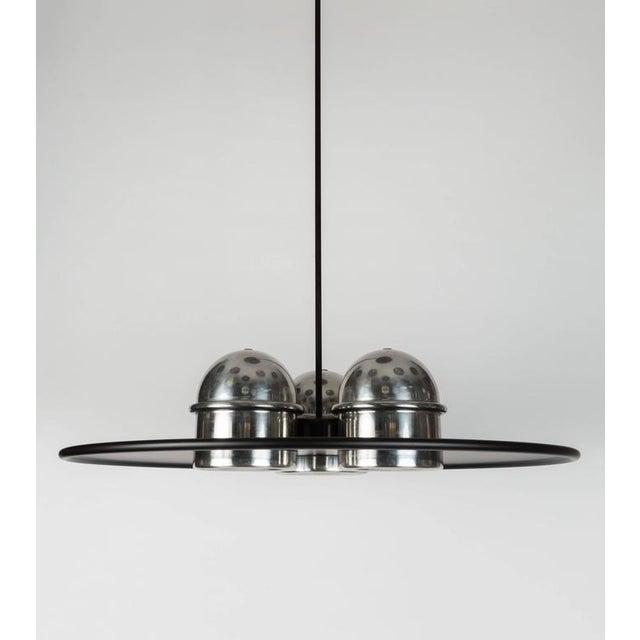 Metal Large Ettore Sottsass 'Lampros 3' Chandelier for Stilnovo C. 1970 For Sale - Image 7 of 9