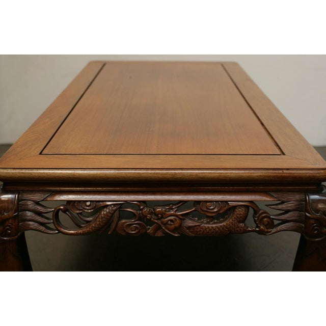 Chinese Carved Hardwood Coffee Table, Early 20th Century For Sale - Image 4 of 4