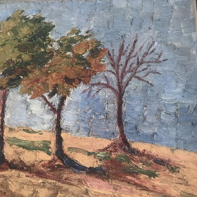 Vintage Impasto Landscape Painting For Sale - Image 4 of 8