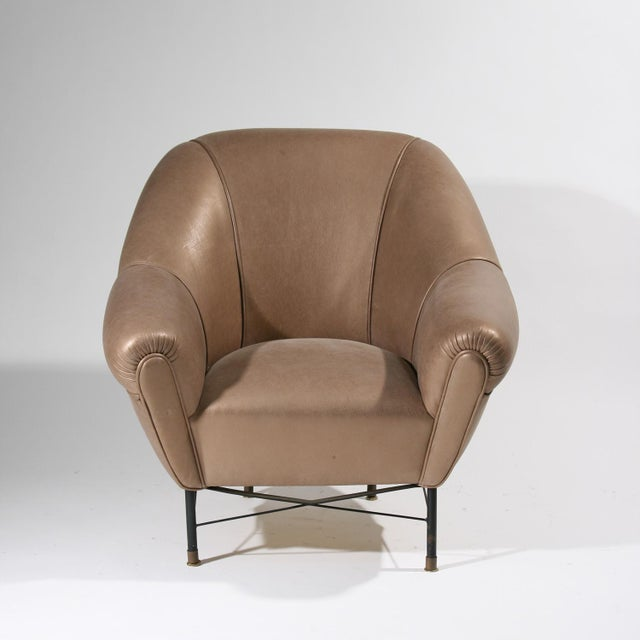 Modernist Leather Armchairs - a Pair For Sale - Image 4 of 6