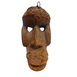 African Old Dan Bugle Tribe Monkey Mask Ivory Coast For Sale