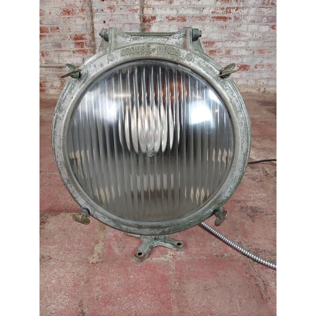 """Crouse-Hinds -1930s Vintage Nautical & Industrial Spot light size 17 x 18 x 27"""" A beautiful piece that will add to your..."""