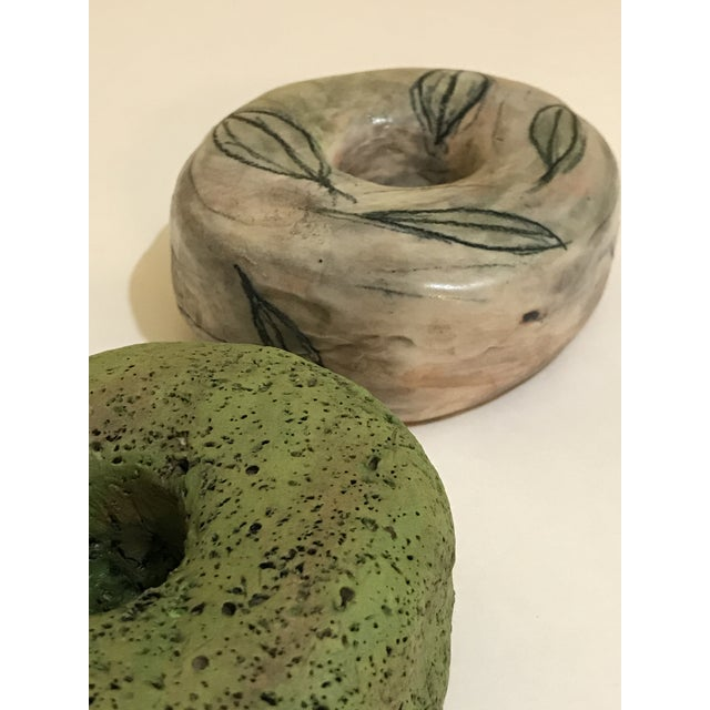 Surface Ceramics Ceramic Wall Donuts - Set of 3 For Sale - Image 4 of 8