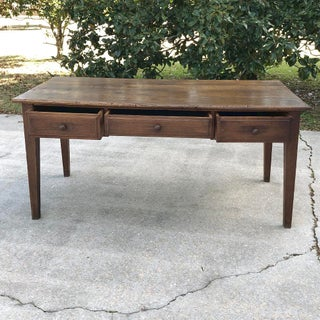 19th Century French Country Rustic Oak Writing Desk Preview
