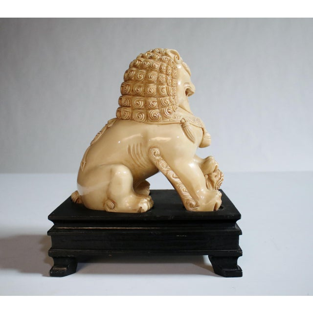 Mid-Century Chinese Guardian Foo Lion Sculpture - Image 6 of 8