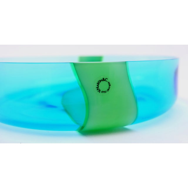 Late 20th Century V. Nasson & Co. Vintage Hand Blown Murano Glass Bowl For Sale - Image 5 of 6