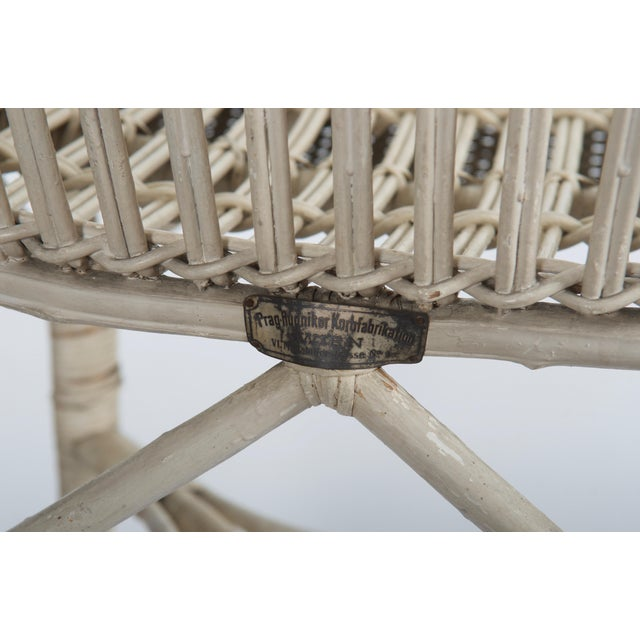 1900 - 1909 Rare Vienna Secession Wicker Armchairs by Hans Vollmer for Prag-Rudniker For Sale - Image 5 of 11