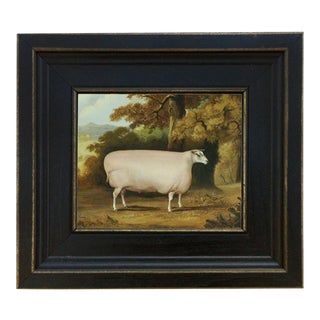 Sheep Reproduction Framed Oil Painting Reproduction Print on Canvas For Sale