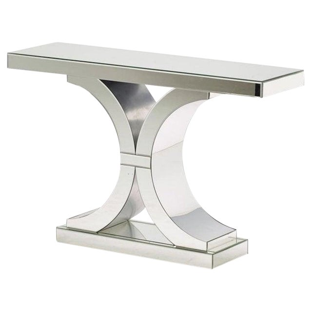 French Modern Style Mirrored Console For Sale