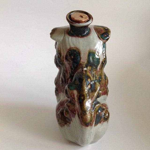 Vintage Pottery Foo Dog Lion Decanter Vase - Image 6 of 8