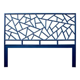Tiffany Headboard King - Navy Blue For Sale