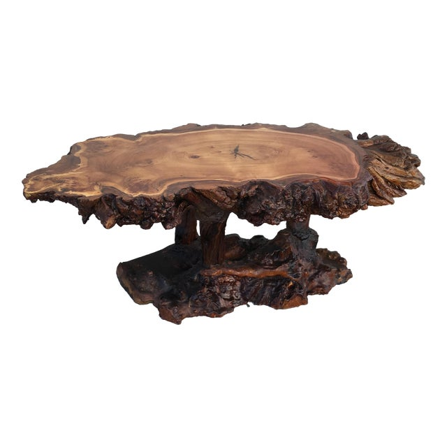Live Edge Wooden Coffee Table - Image 1 of 11