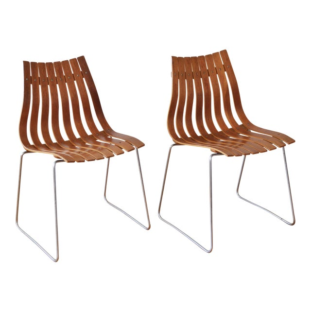 """1960s Vintage Hans Brattrud for Hove Mobler Scandia """"Junior"""" Chairs- A Pair For Sale"""
