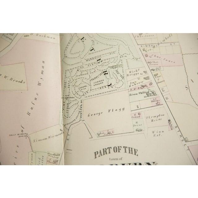 Antique Woburn Massachusetts Atlas Map Plate E