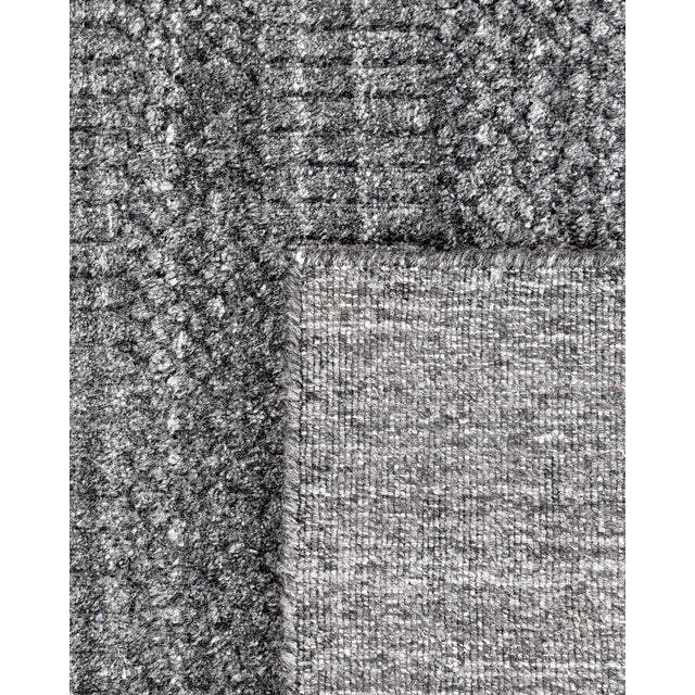 Contemporary Sanam, Contemporary Solid Hand Loomed Area Rug, Dark Gray, 5 X 8 For Sale - Image 3 of 9
