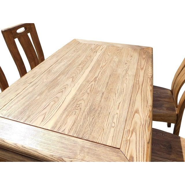 Light Wood Dining Set - Image 5 of 6