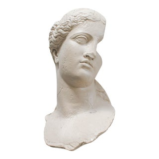 Mid 20th Century Plaster Bust Wall Hanging For Sale