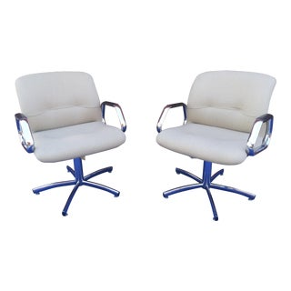Vintage 1980s Steelcase Chairs - a Pair For Sale