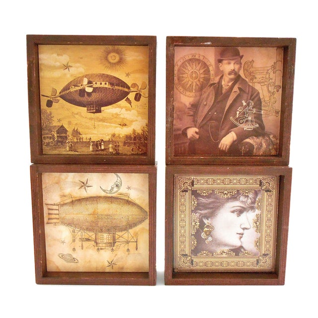 Steampunk Drink Coasters - Set of 12 For Sale - Image 9 of 10