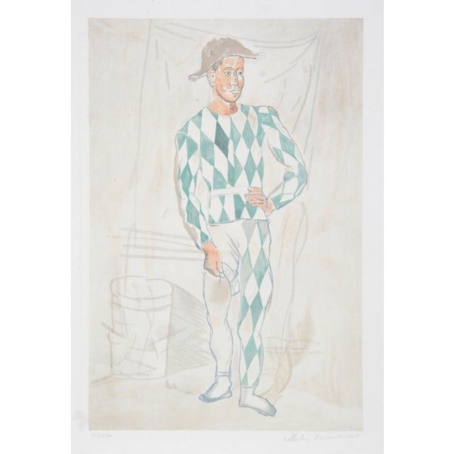 "Pablo Picasso, ""Arlequin en Pied,"" Lithograph For Sale"