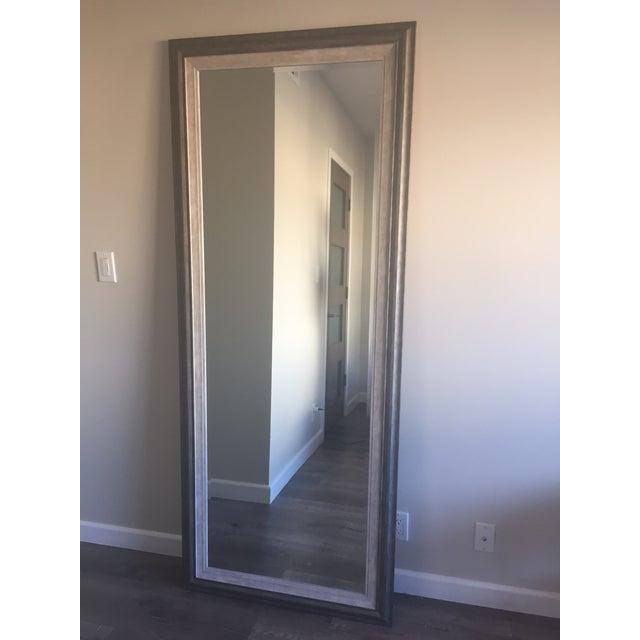 Contemporary Gray Floor Mirror - Image 2 of 6