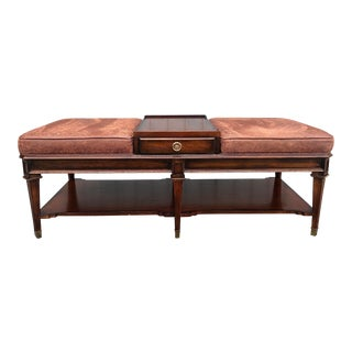 Sherill Furniture Ottoman Cocktail Table For Sale
