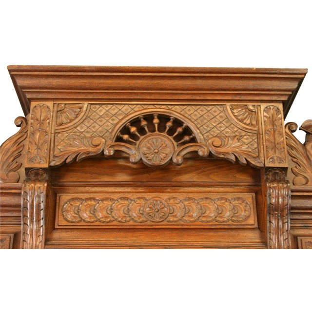 Antique Chestnut French Brittany Style Buffet - Image 6 of 8