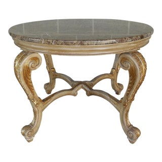 Regency Distressed Granite Top Console For Sale