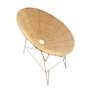 Raw Rattan Cone Easy Chair