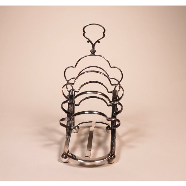 Metal 1950's English Silver Plated Toast Rack For Sale - Image 7 of 13