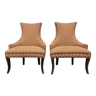 Kravet Turin Klismos Style Lounge Chairs - A Pair
