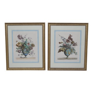 Matted & Gold Framed Botanical Prints - a Pair For Sale