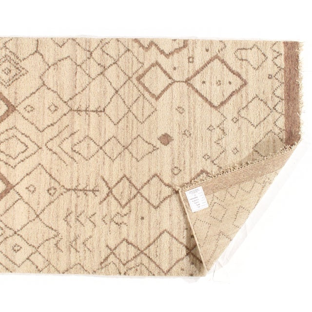 Pasargad Ny Moroccan Hand-Knotted Rug - 4′ × 6′ For Sale - Image 4 of 5