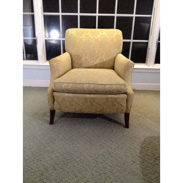 Textile 1930s Antique Coil Sprung Armchair For Sale - Image 7 of 7
