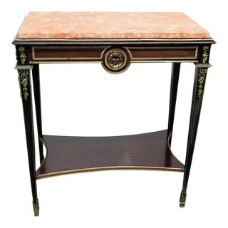 20th century Regency Style Marble Top Console Table/Writing Desk For Sale