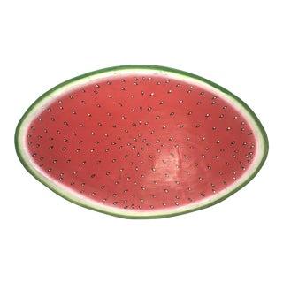Vintage Folk Art Carved Watermelon Wood Sculpture For Sale