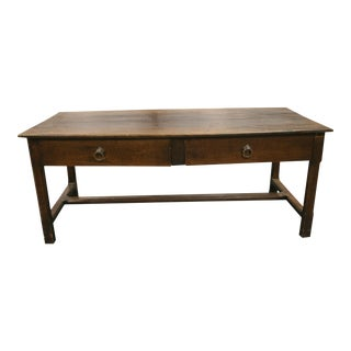 1850 French Oak 2-Drawer Dining Table