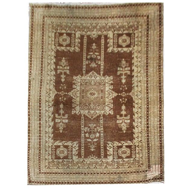 "Vintage Handmade Agra Rug-4'6'x6"" For Sale"